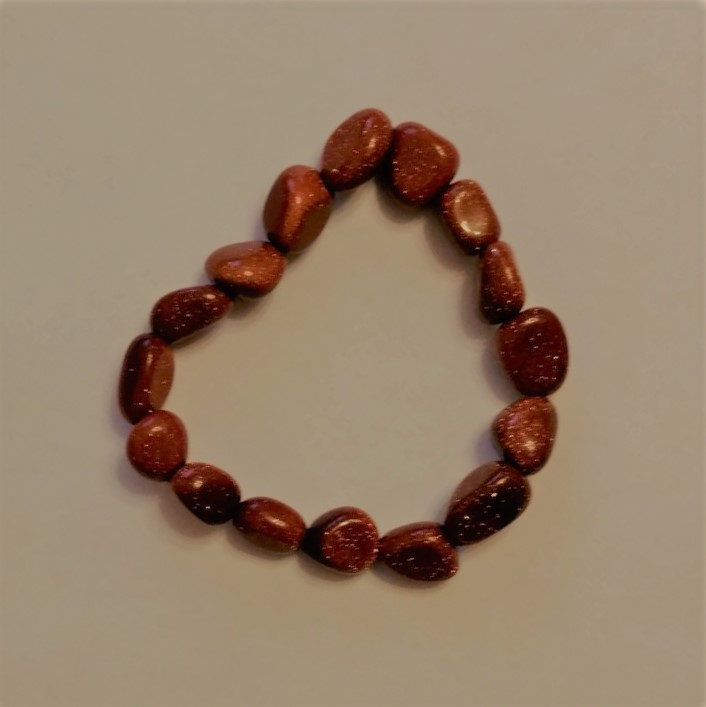 #VIN 190002 Goldstone Bracelet  suggested $10 USD