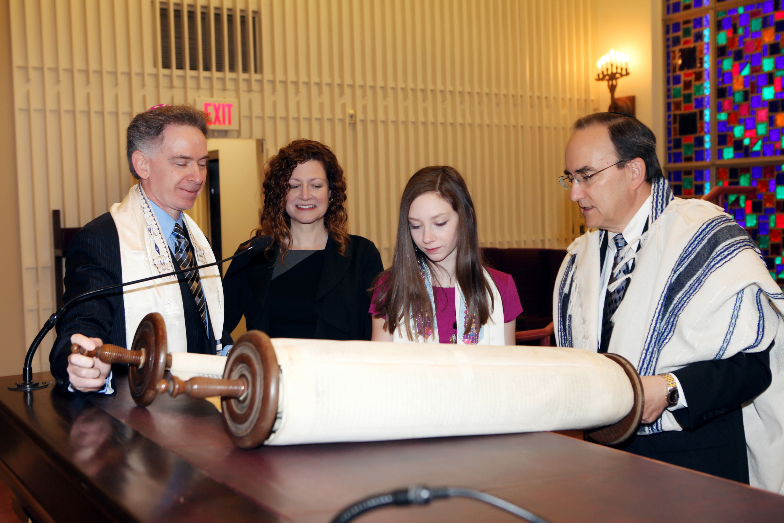 The Altdorf Torah in 2013, as Erika's cousin, Sophia R., the youngest great-grandchild of Erika's great-aunt Bella, became a Bat Mitzvah in Columbus, Ohio.