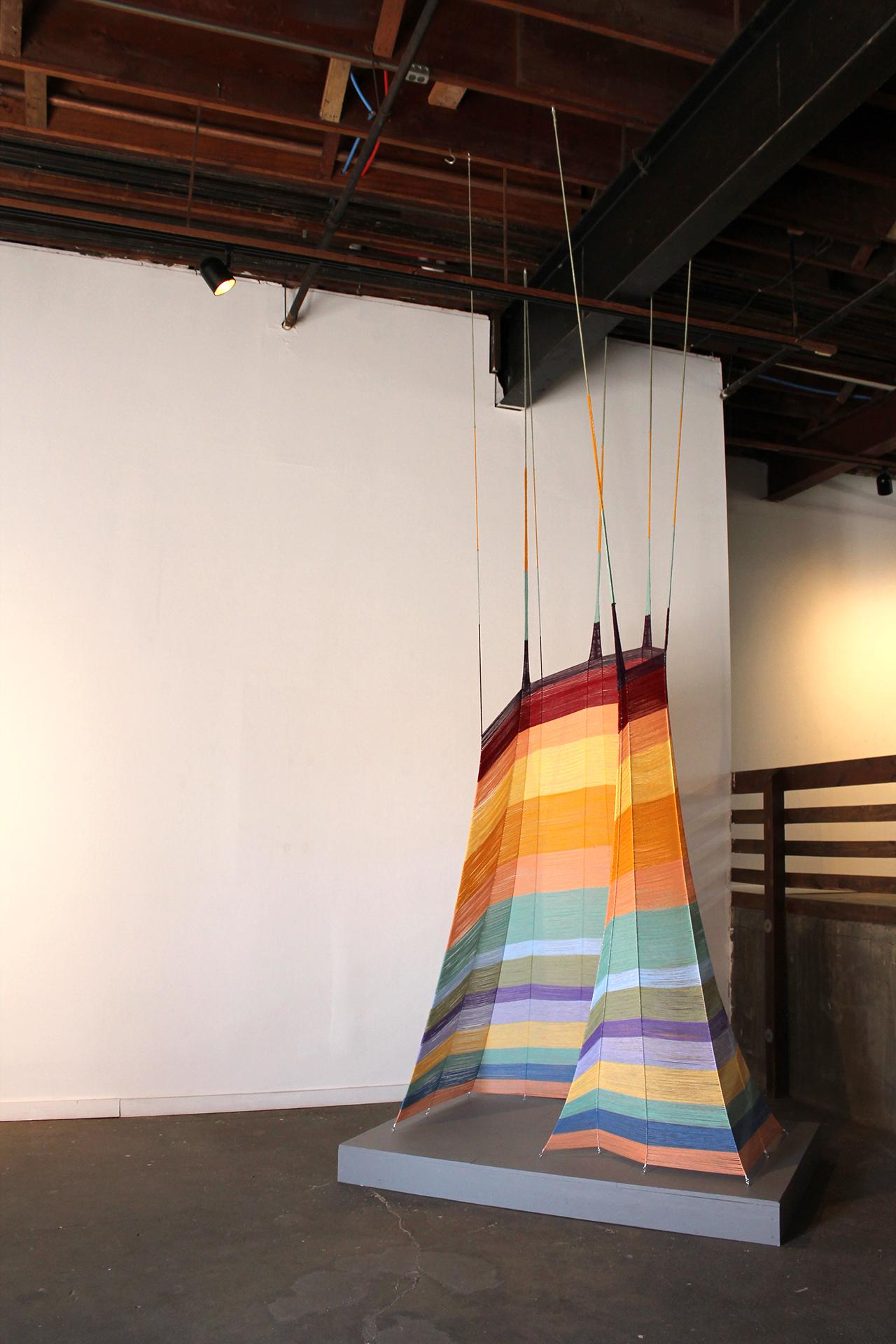 Sanctuary  , acrylic fibers, 16 x 6 x 4 feet, 2014