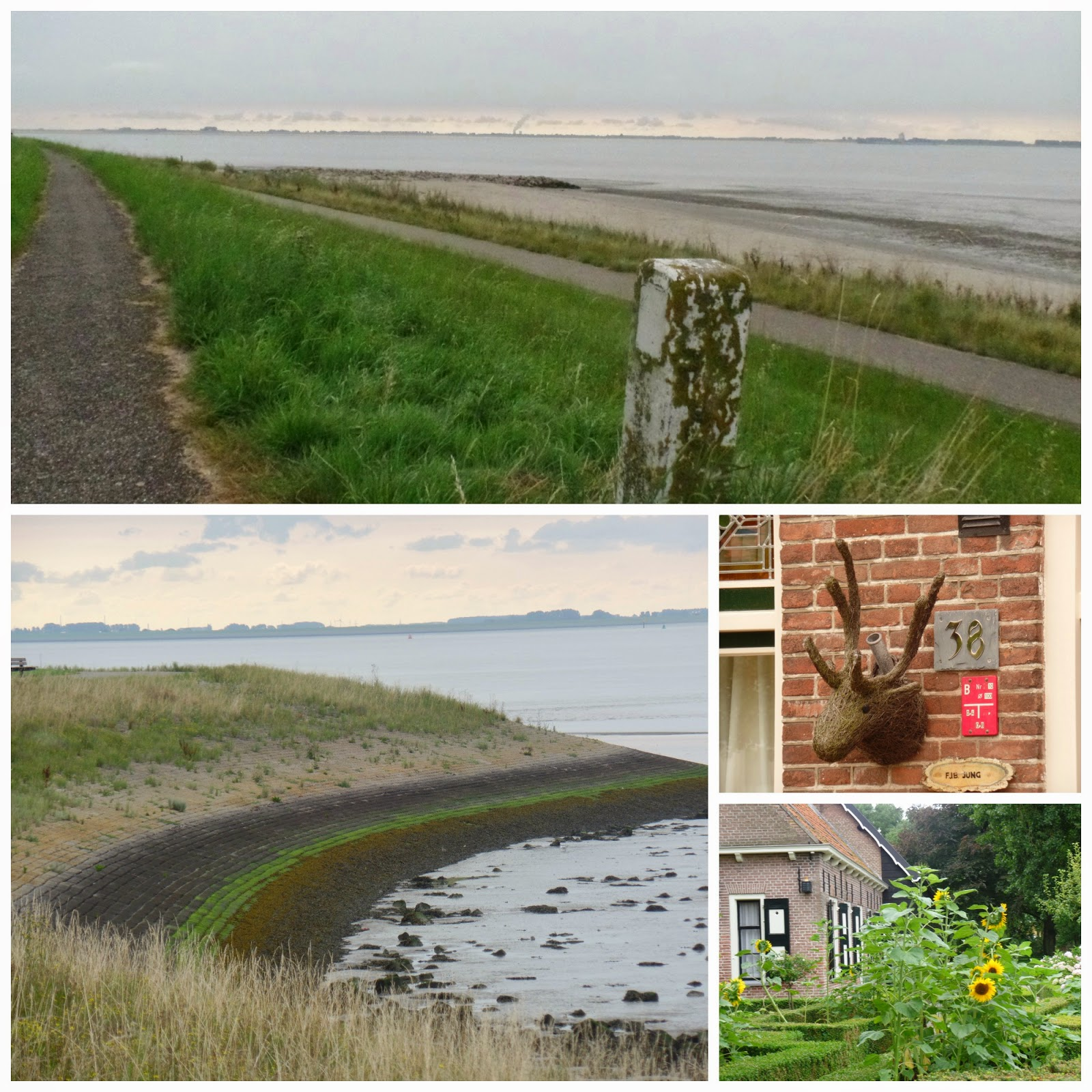 A morning walk along the dikes and into the little town. There were signs warning about bears!