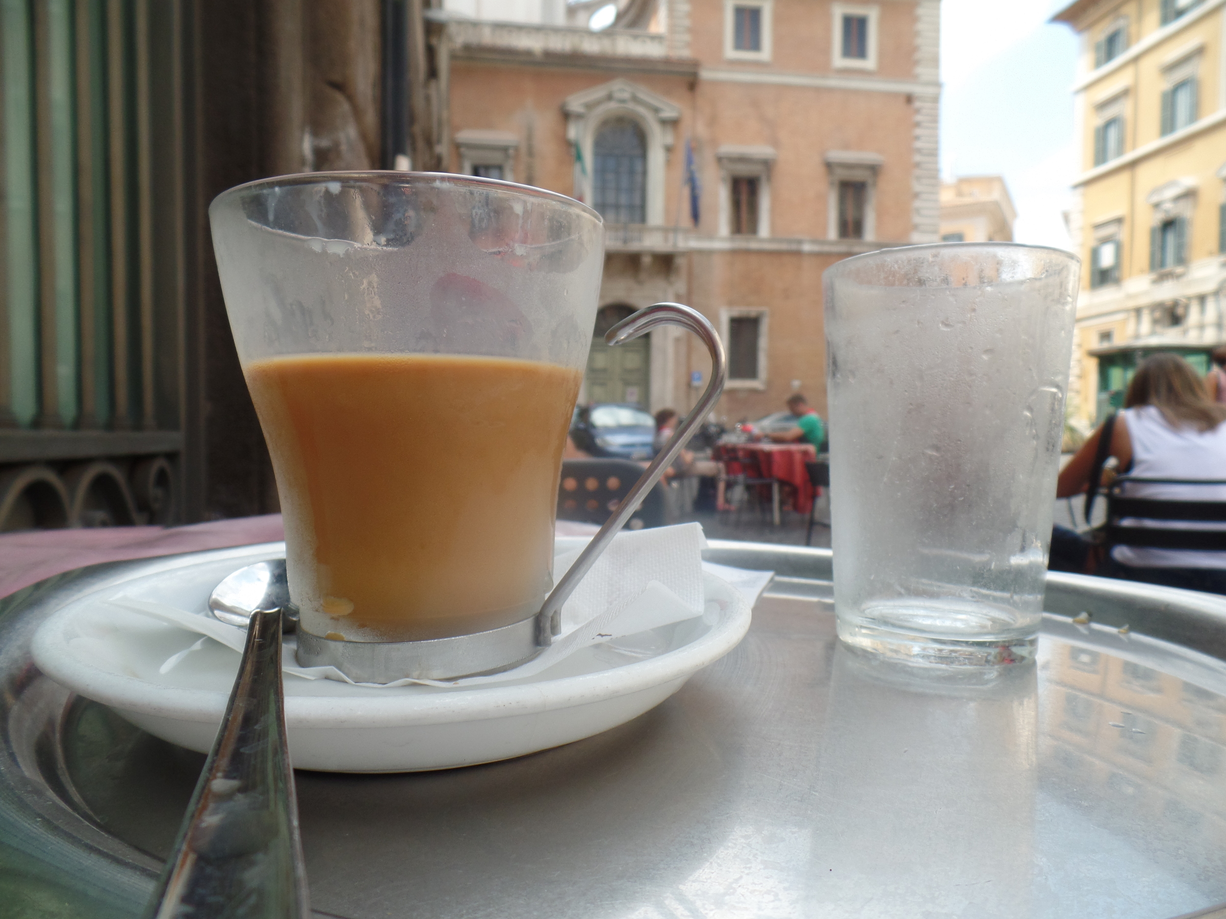 Having a non-authentic travel experience -- OMG, drinking coffee with milk after lunch time in Italy, I'm going to turn into a newt or something!