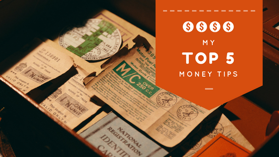 My top five money tips