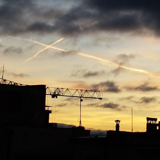 Skywriting over Prague. No filter needed.  #prague #iloveprague #visitprague #czech #sky #skywriting #sunrise_sunsets_aroundtheworld #traveladdict #exploreeverything #nomadlife #travellife #smallmoments #flashesofdelight