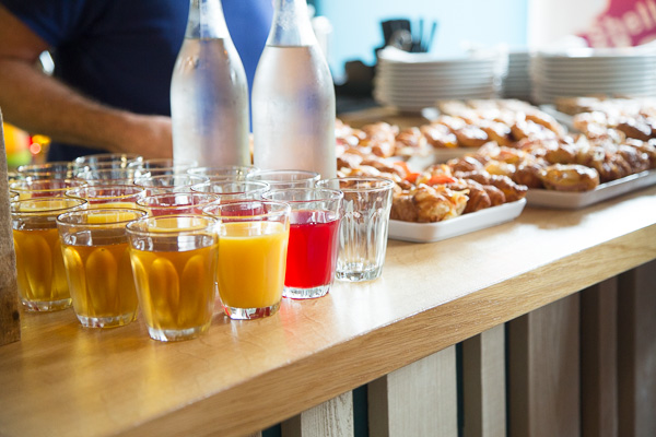 Image of refreshments and snacks at Inspire and Connect