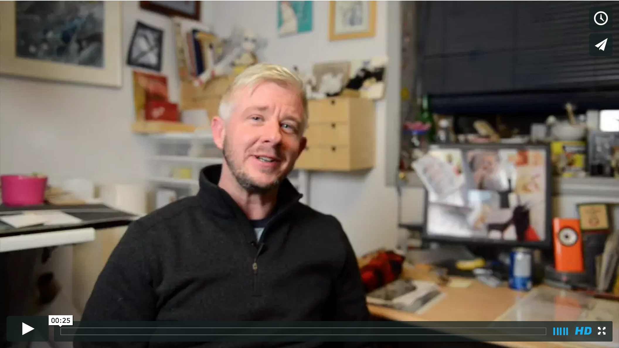 Leading up to Marcus Jackson's art show we produced 6 videos about him, his art and his practice.