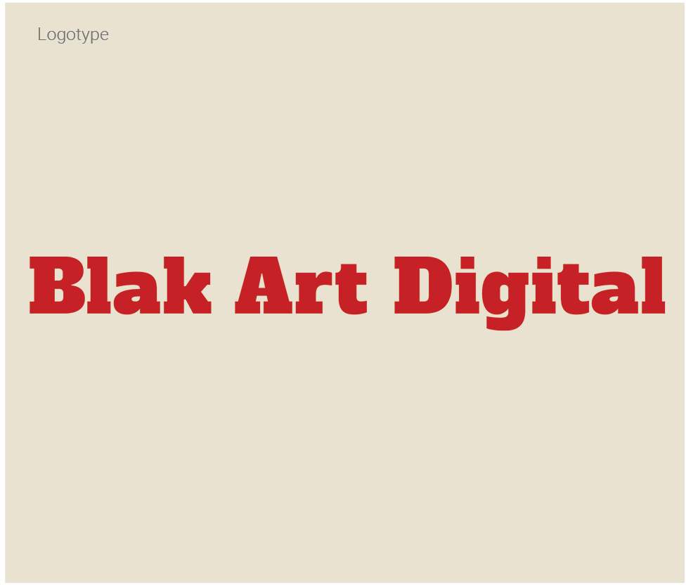 blak art digital logotype