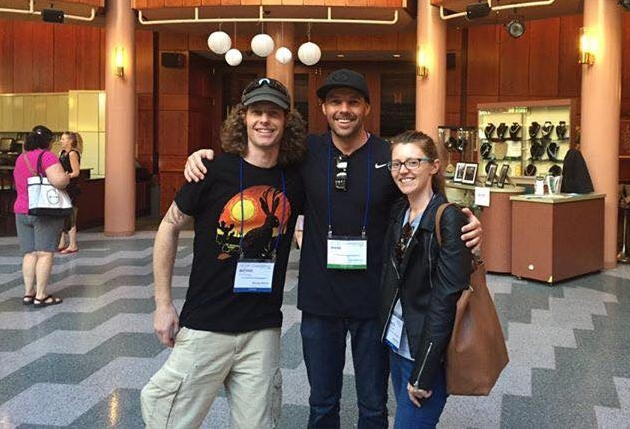 Our cofounder Shane with Michael and Bek at the 2016 Float Conference in Portland, Oregon