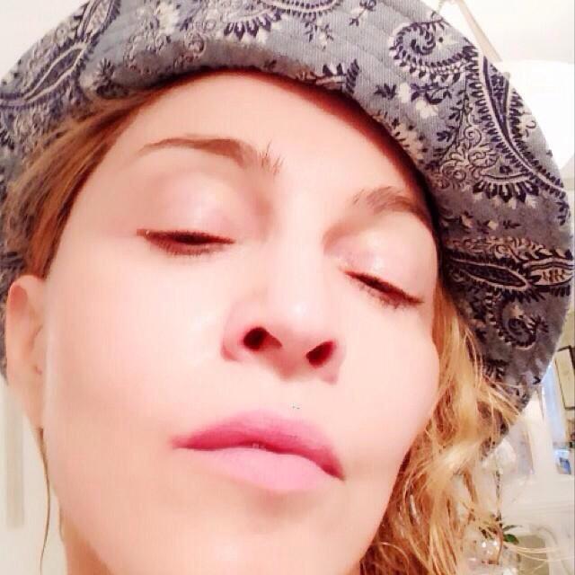 Madonna's Post MDNA Clay Mask Skin