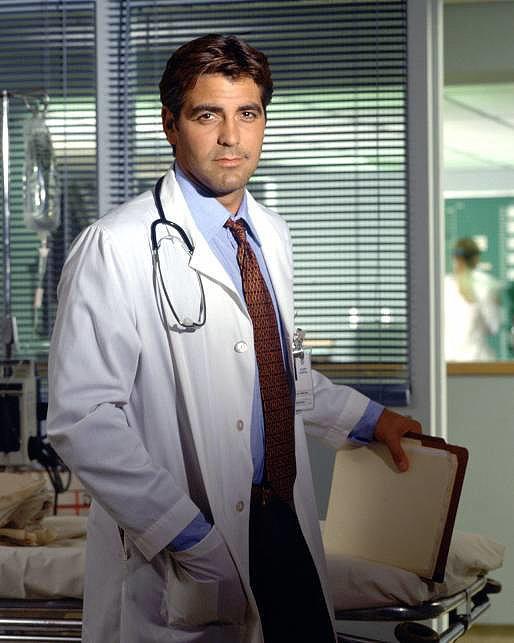Photo of Clooney as ER's Dr. Ross (found on PopSugar)