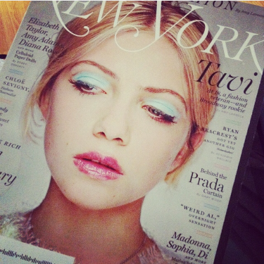 Tavi on the cover of NY Mag