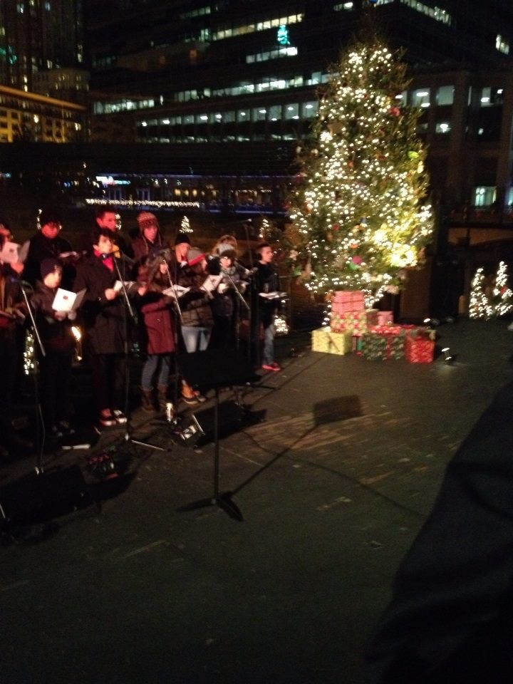 Carolers at the 2013 Christmas Water Fire. This year, you'll find a Santa's Village, food and toy drives to benefit the Rescue Mission, a Christmas themed arts festival and local choir groups.