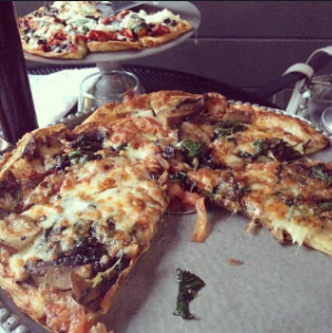 Pizzas from the Duck & Bunny on Wickenden