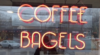 Besides bagels and coffee, you can find delicious chai, sandwiches or (if you're craving veggies)salads there too.