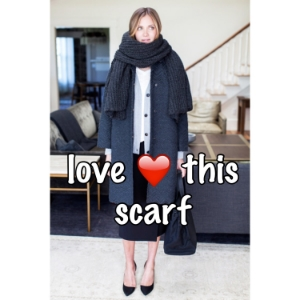 Scarf and modelfrom Emerson Fry.