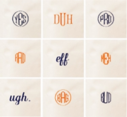 Creative monogramming to appeal to the snarky sophisticate in all of us