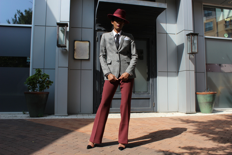 The Rene Berry in her signature menswear look.