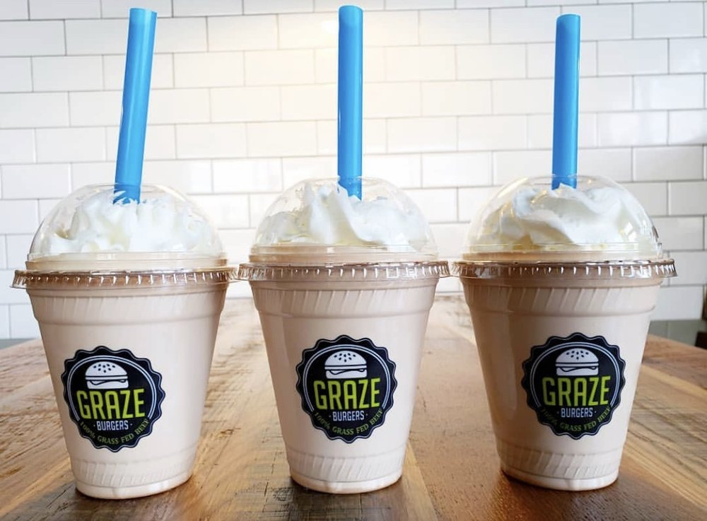 Their Frozen Custard Shakes: Photo Courtesy Of The Graze Burgers Instagram