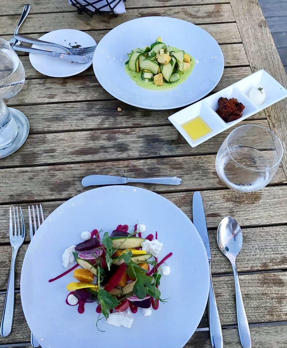 The salad course from one of our al fresco dinners there last Summer.