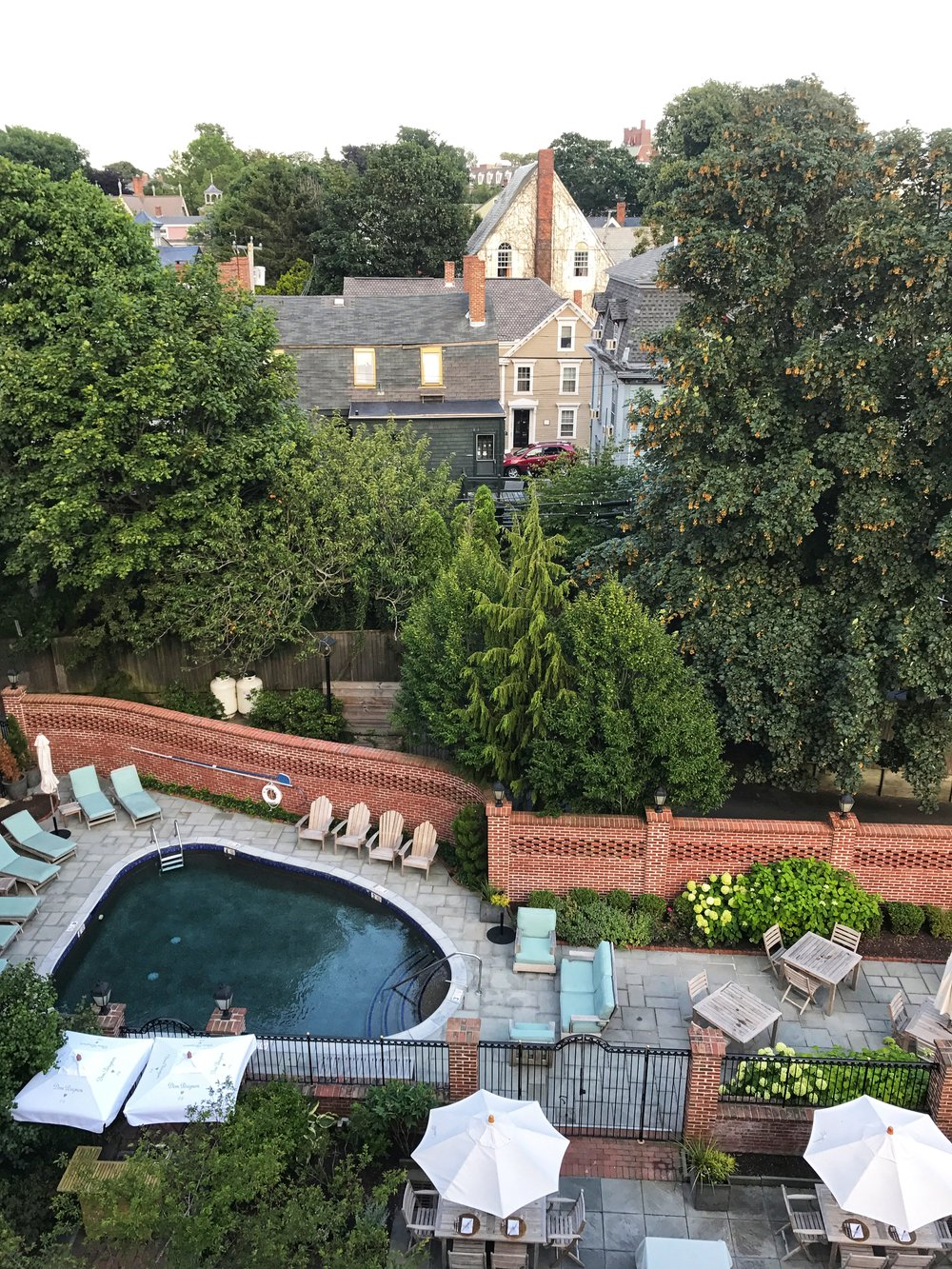View Of The Courtyard And Pool At The Vanderbilt Grace