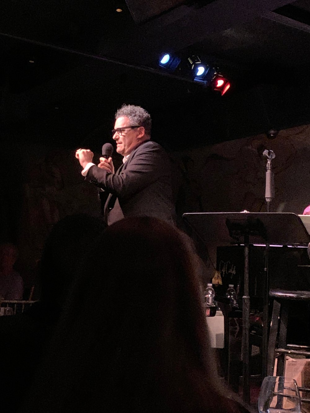 Isaac During Last Night's Show At The Cafe Carlyle
