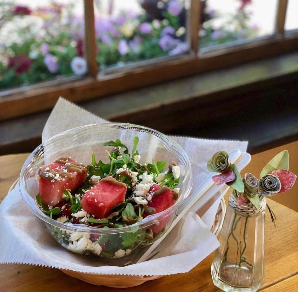 Watermelon Salad Photo Courtesy Of   Benefit Juice Bar & Cafe Instagram