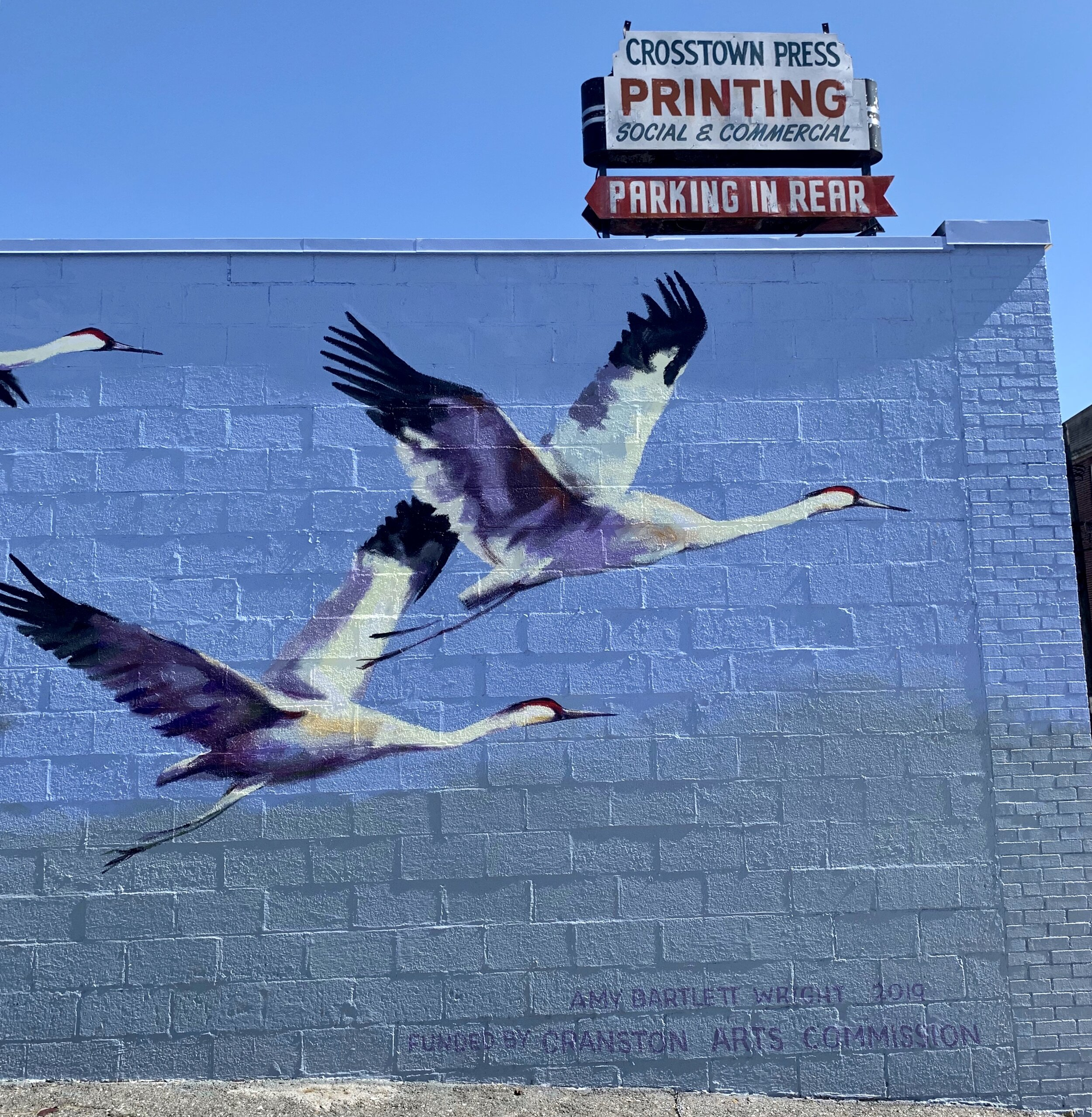 """Crane Flight,"" the Newest Mural By Artist Amy Bartlett Wright, At 829 Park Avenue in Cranston, RI"