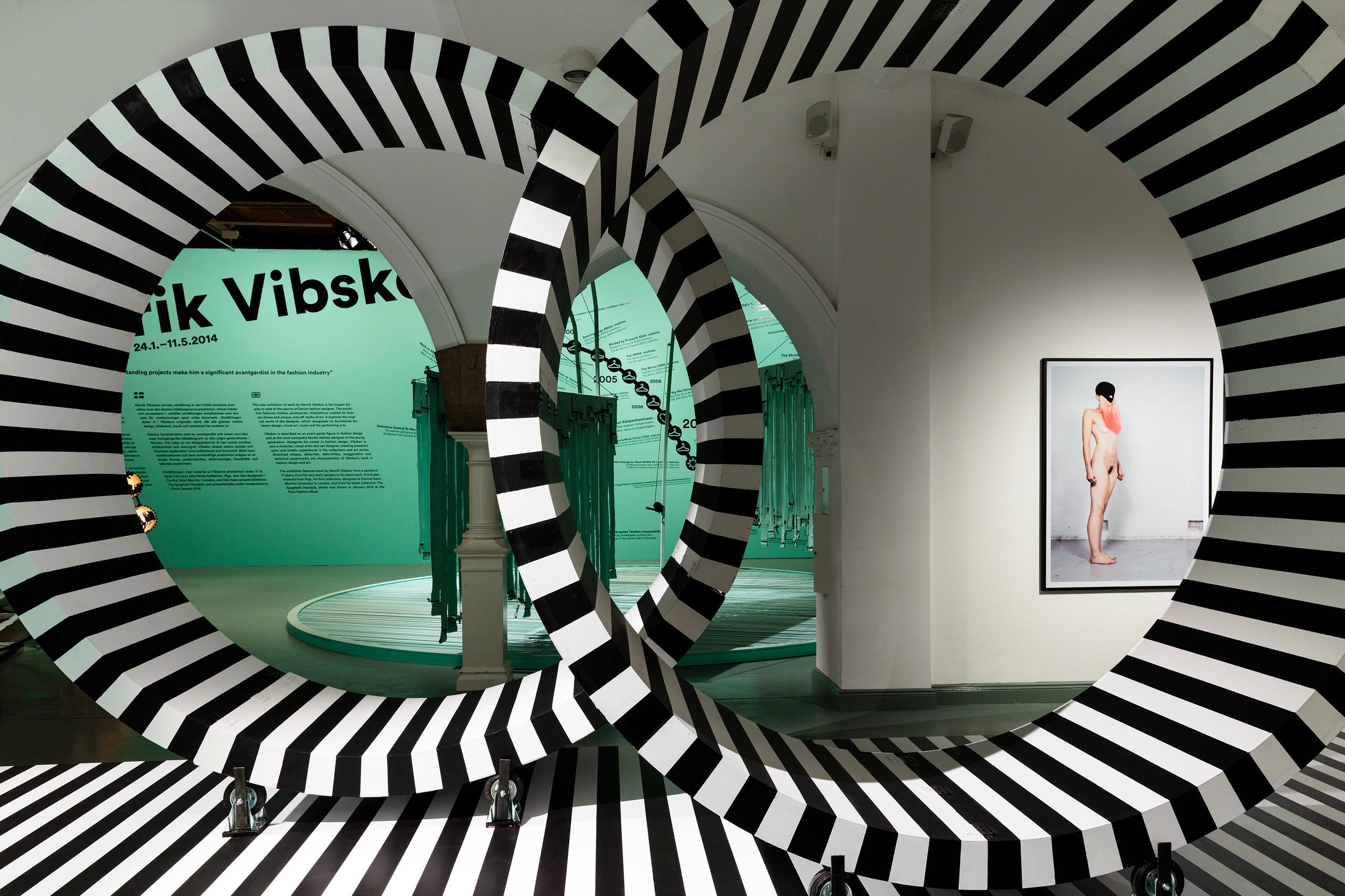 Henrik Vibskov, installation view, 2014 (c) Paavo Lehtonen