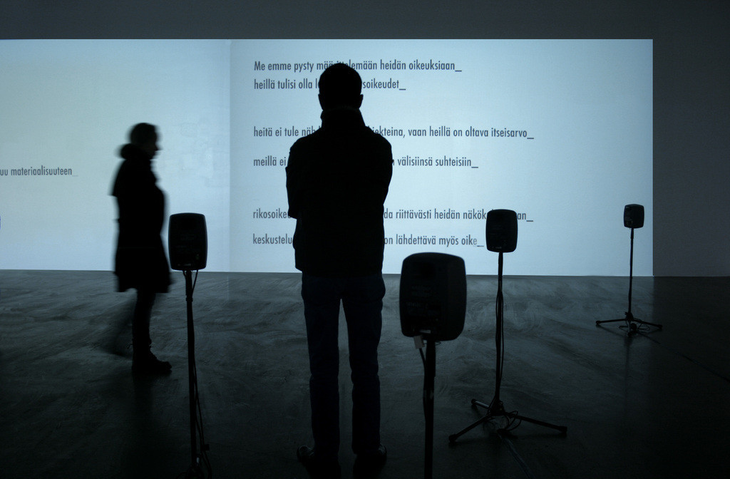 Terike Haapoja:  The Party of Others , installation view, 2011