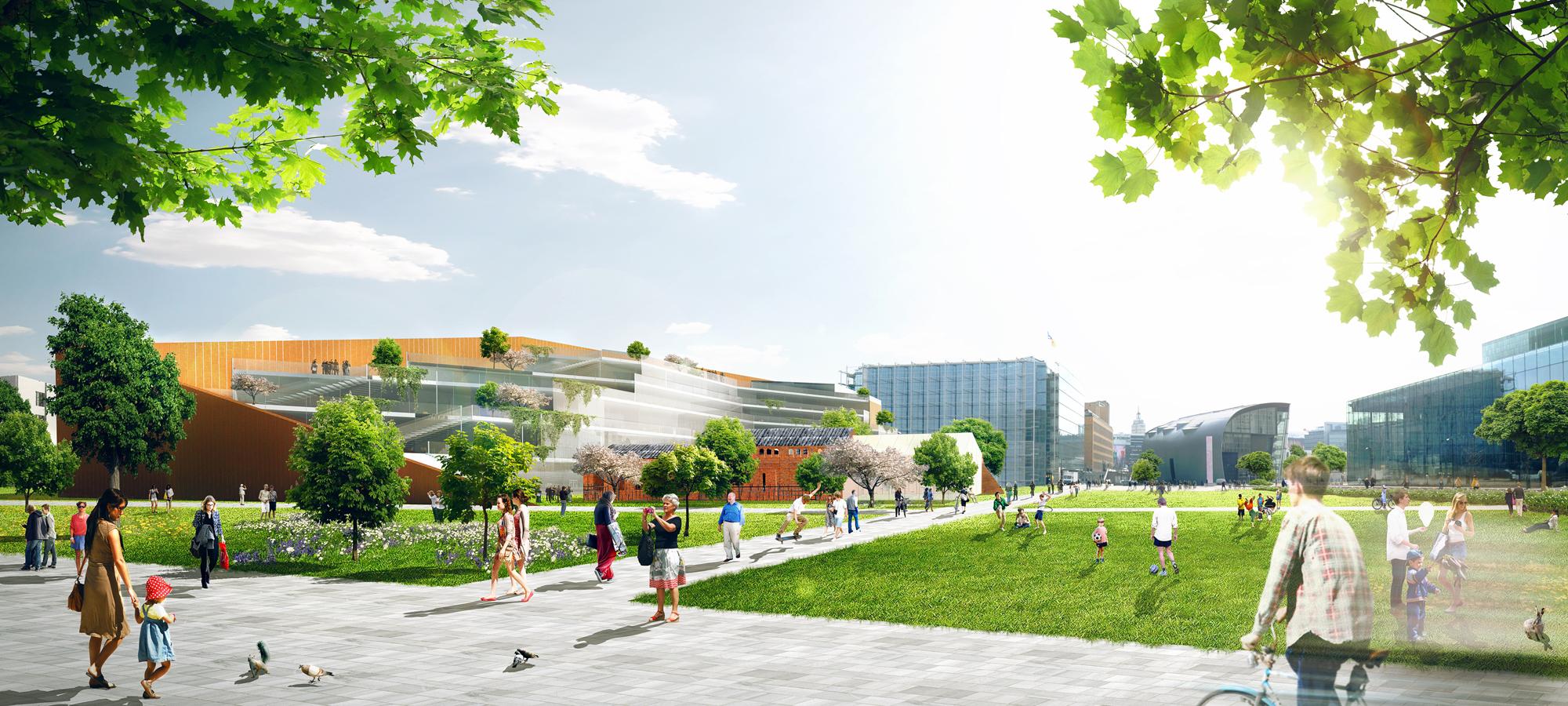 Katariina Sewón and Salla Hoppu: proposal for Helsinki Central Library, 2012