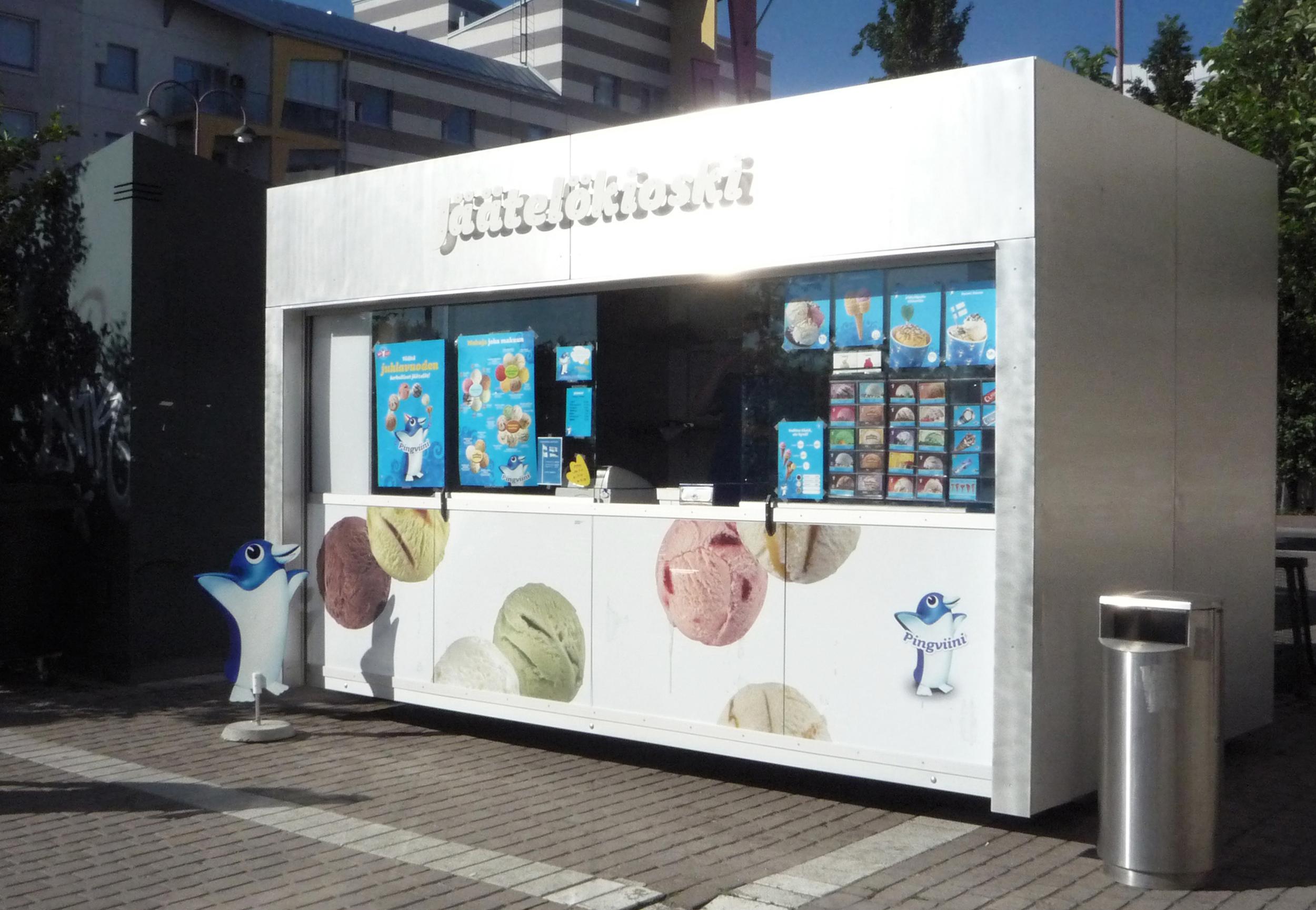 Katariina Sewón: ice-cream kiosk for  Nestlé Finland, 2012