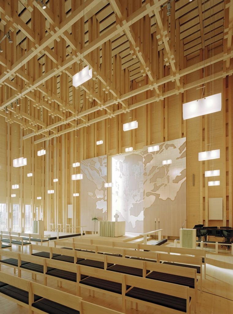 JKMM architects: Viikki church. (c) Jussi Tiainen