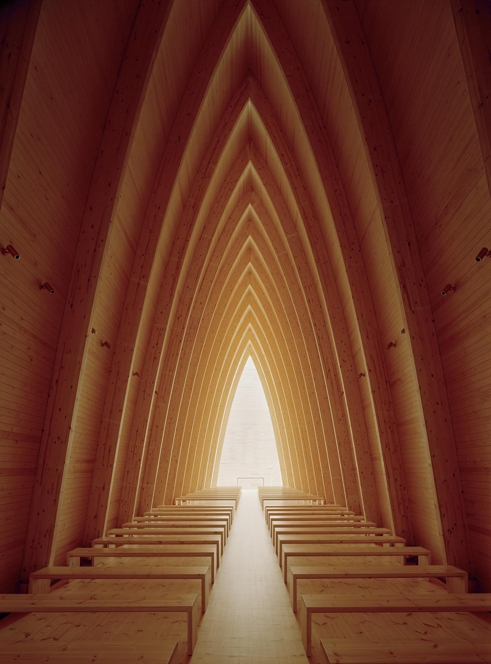 Sanaksenaho Architects: Turku Ecumenical Art Chapel designed 1996-99, built 2005. Photo: Jussi Tiainen