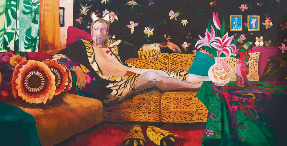 Petra Innanen:  Tiger , 2013. Acrylic on canvas.