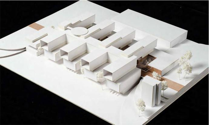 A model for a new hospital to be built in Jyväskylä by the year 2020.