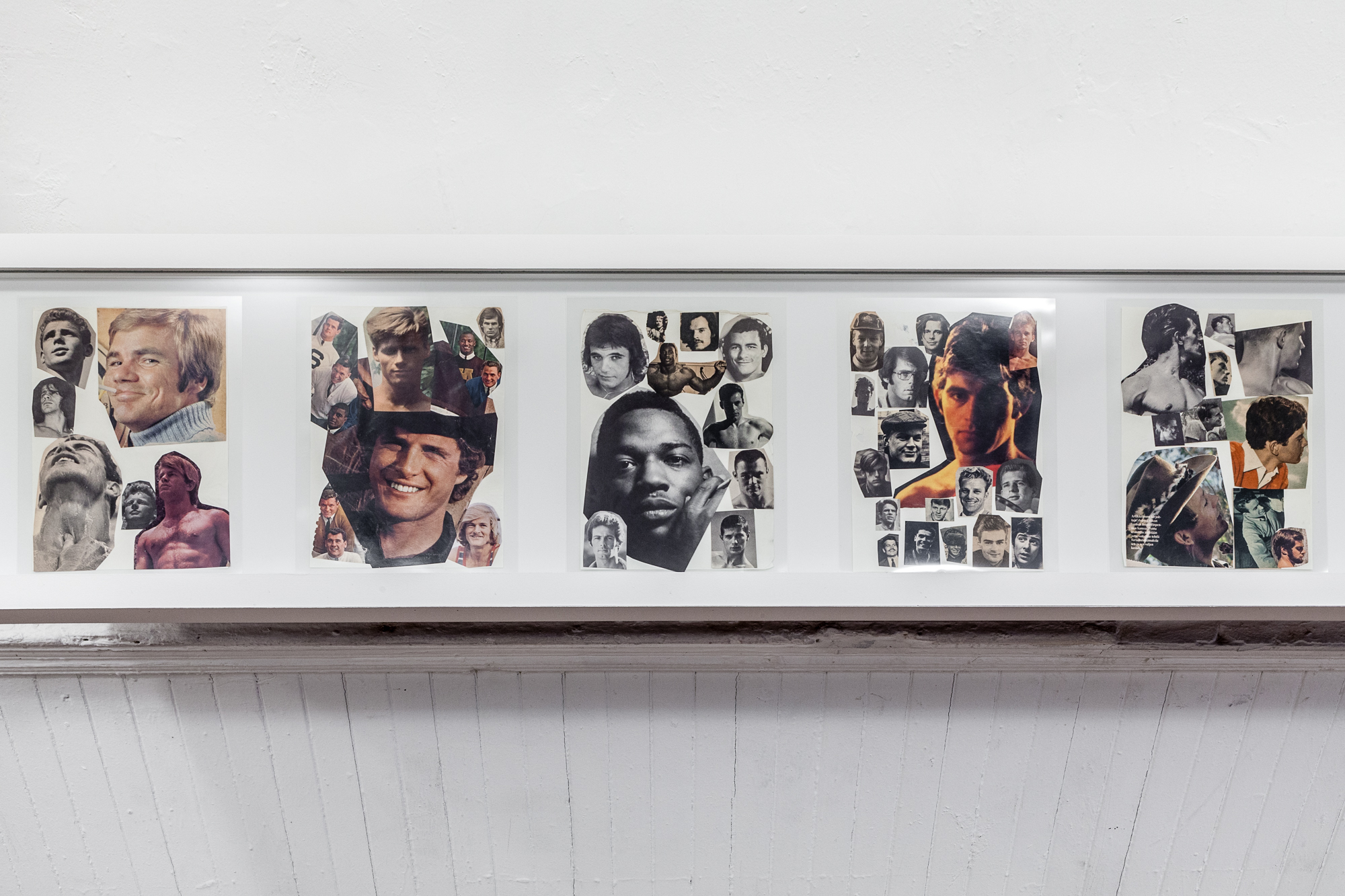 Reference pages, ca.1966 – 90. Collage on paper. Tom of Finland Foundation, Permanent Collection. From Tom of Finland: The Pleasure of Play, Artists Space, 2015. Photo © Daniel Pérez.
