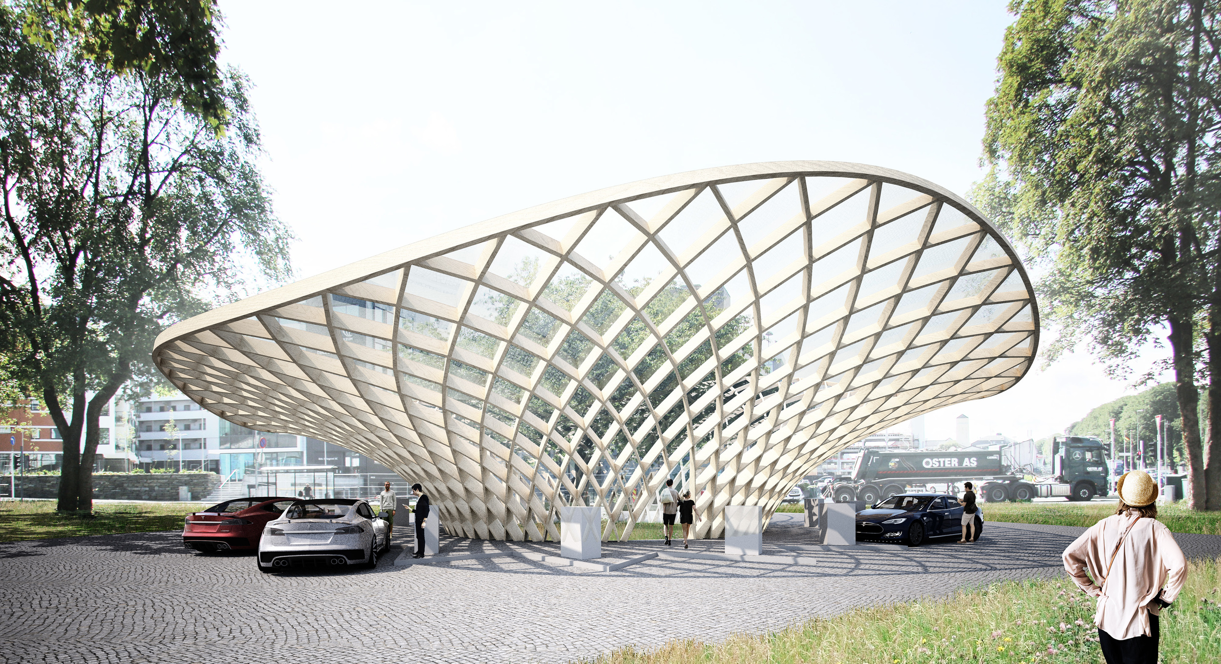 Teemu Seppänen, Auvo Lindroos: Buzz, a charging station for electric cars, 2014.