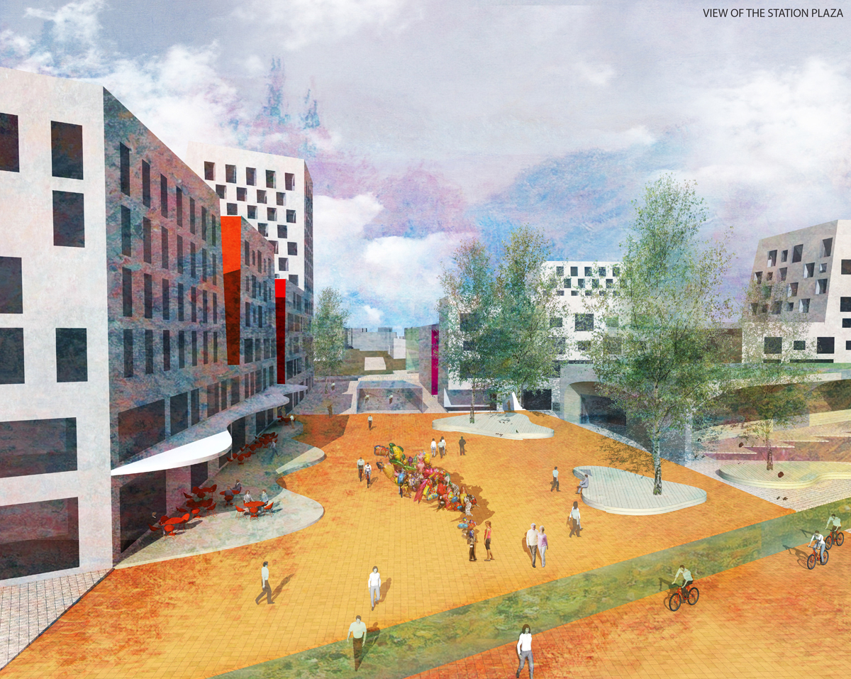 Laura Hietakorpi & Tomi Jaskari:  Main Plaza , proposal for Europan 13 Seinäjoki competition, 2015.