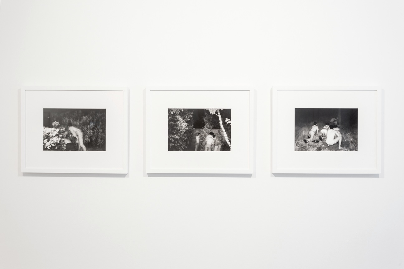 Kohei Yoshiyuki, from the series  The Park , 1971-1979. Courtesy the artist and Yossi Milo Gallery, New York. The Limits of Control , Station Independent Projects, New York, 2016. Installation view.