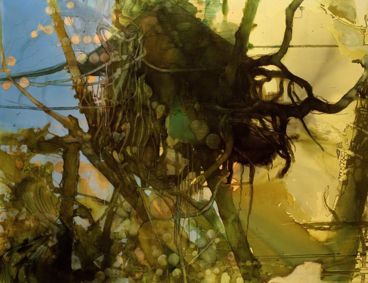 Heli Hiltunen,  Happy House , 2009–2011. Oil, acrylic and ink on canvas, 170x130cm.