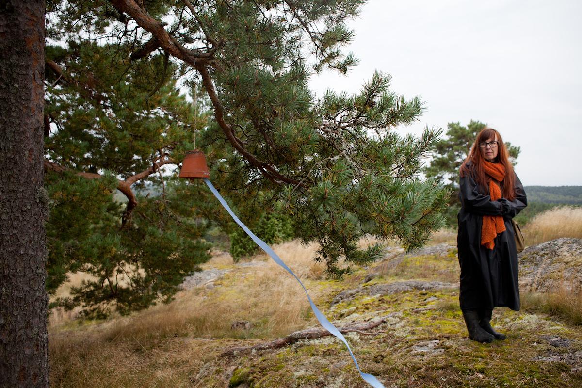 Simo & Tuike Alitalo, Wind Farm , 2012. Listening walk and installation.