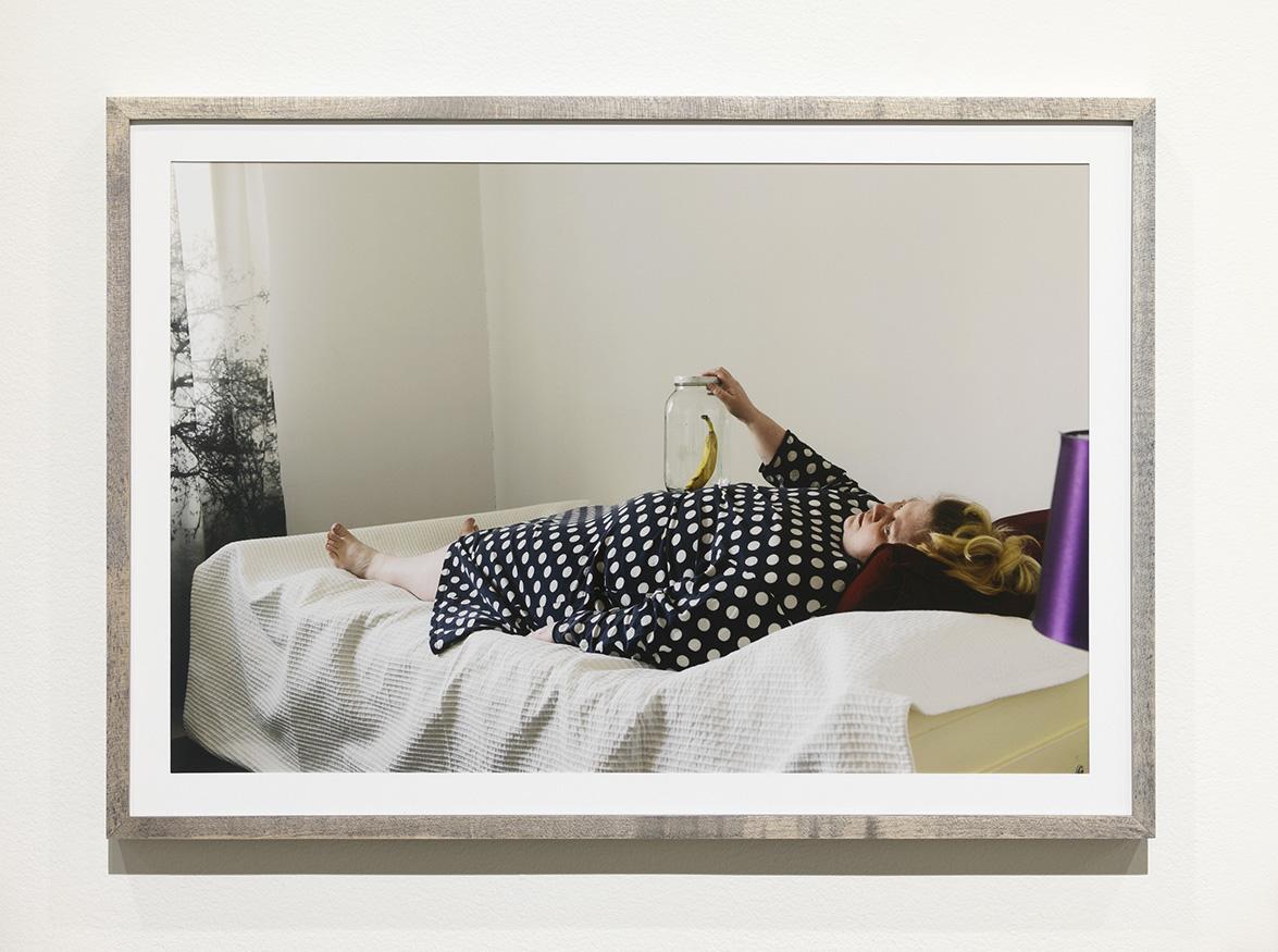 Iiu Susiraja,  Toimiva kommunikaatio , 2016. Chromogenic print, 15,5 x 22 inches framed. Installation view at Ramiken Crucible.
