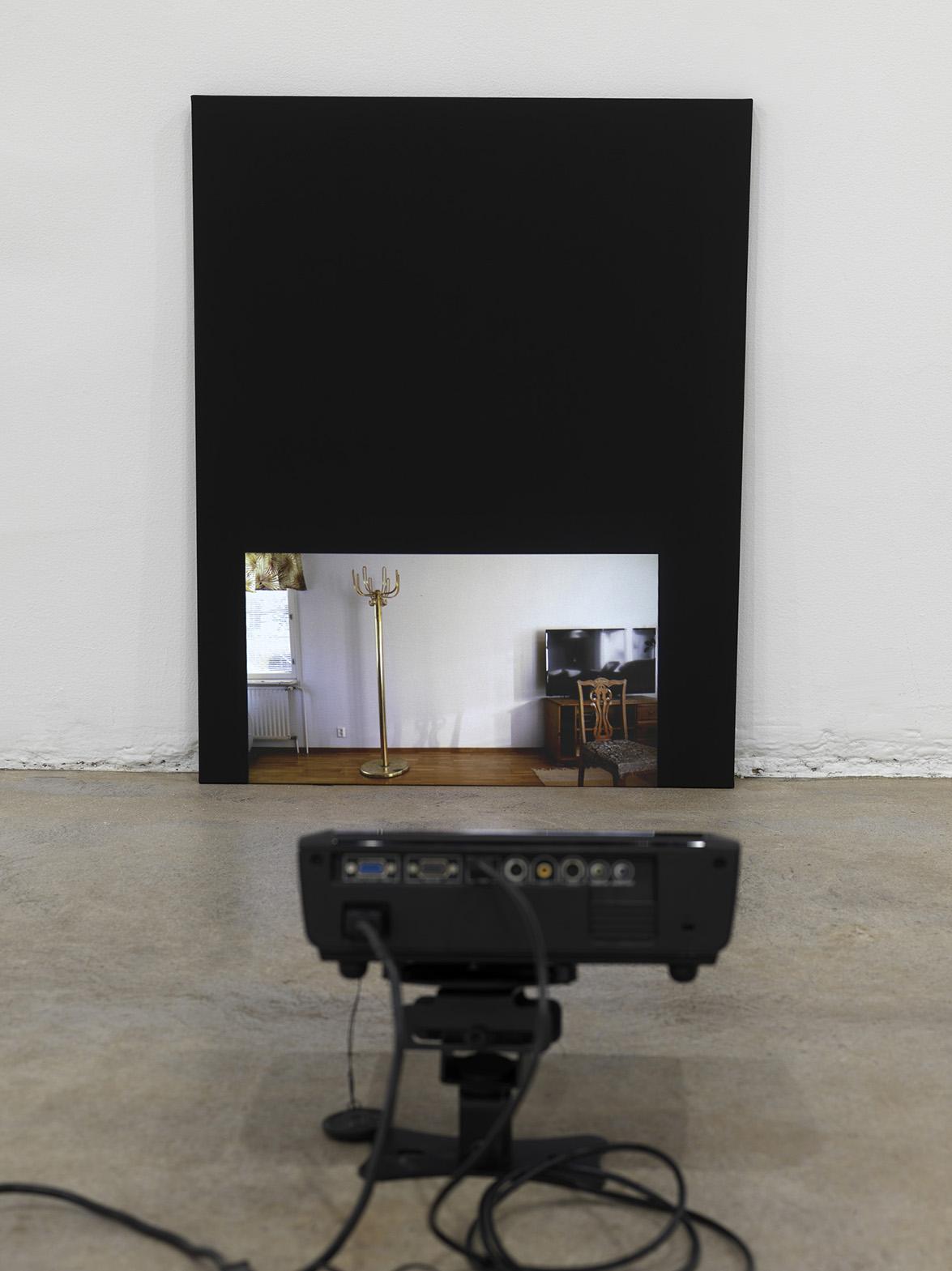 Iiu Susiraja,  Olen valmis 1 , 2016. Video, 0'51. Installation view at Ramiken Crucible.