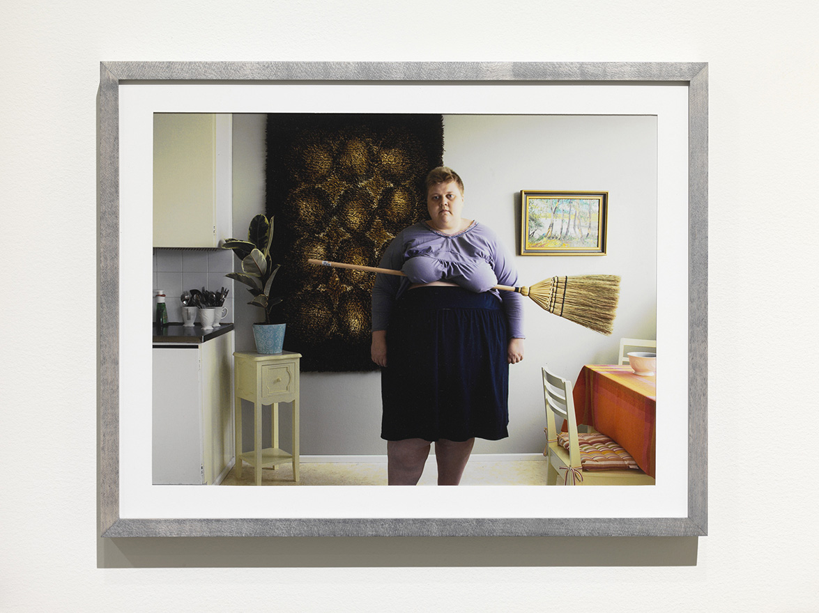 Iiu Susiraja,  Luuta , 2010. Chromogenic print, 12,5 x 16 inches framed. Installation view at Ramiken Crucible.