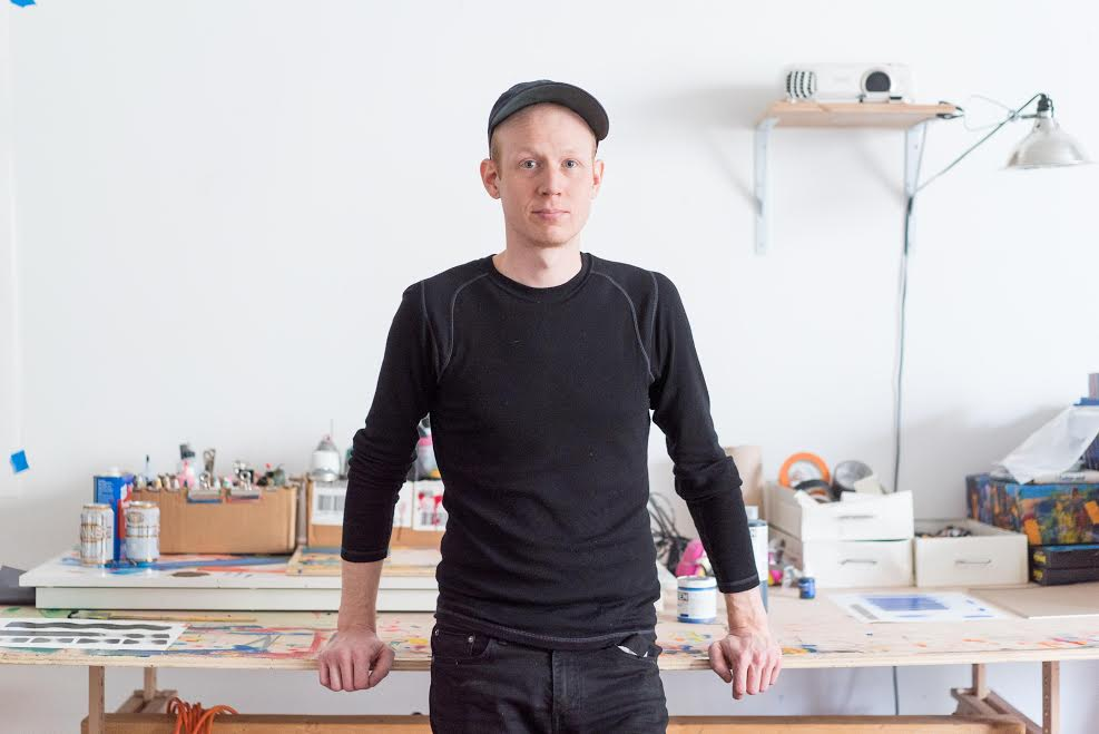 Santtu Mustonen in his studio. Photo: Liisa Jokinen