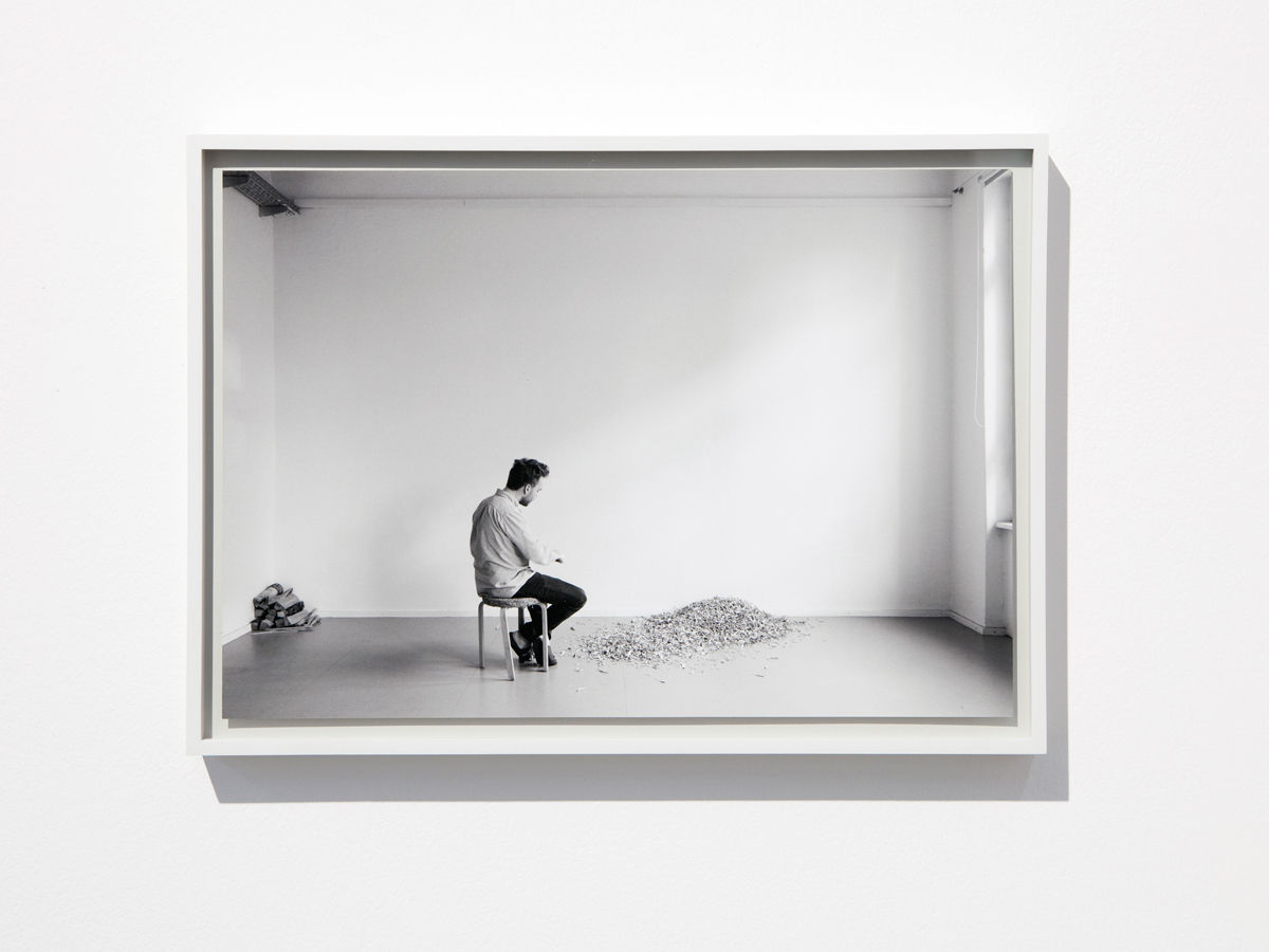 During his residency Noronkoski continues working with  This Place is Nowhere . This Place Is Nowhere , 2016. Framed pigment print, 44 x 34 cm, text. Courtesy of the artist.