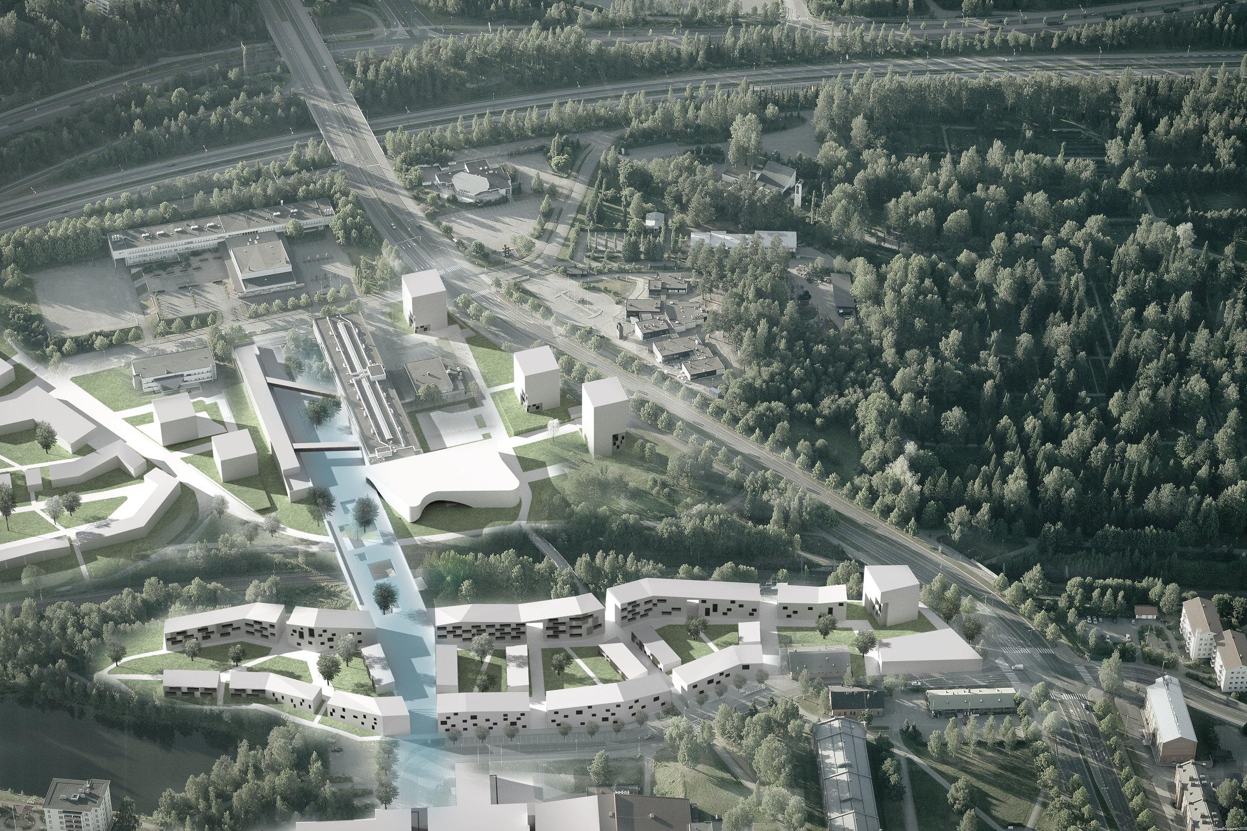 Anssi Lauttia, Kuutti Halinen & Tuomas Raikamo won the Europan 12, a competition of urban planning for young architects, in 2013. Courtesy Anssi Lauttia