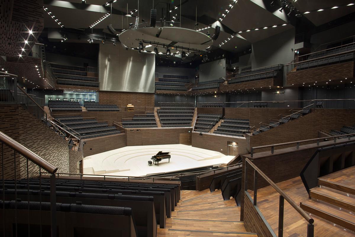 Tuomas Lemmetyinen has been designing the interior of Helsinki Music Centre. Photo: Arno de la Chapelle