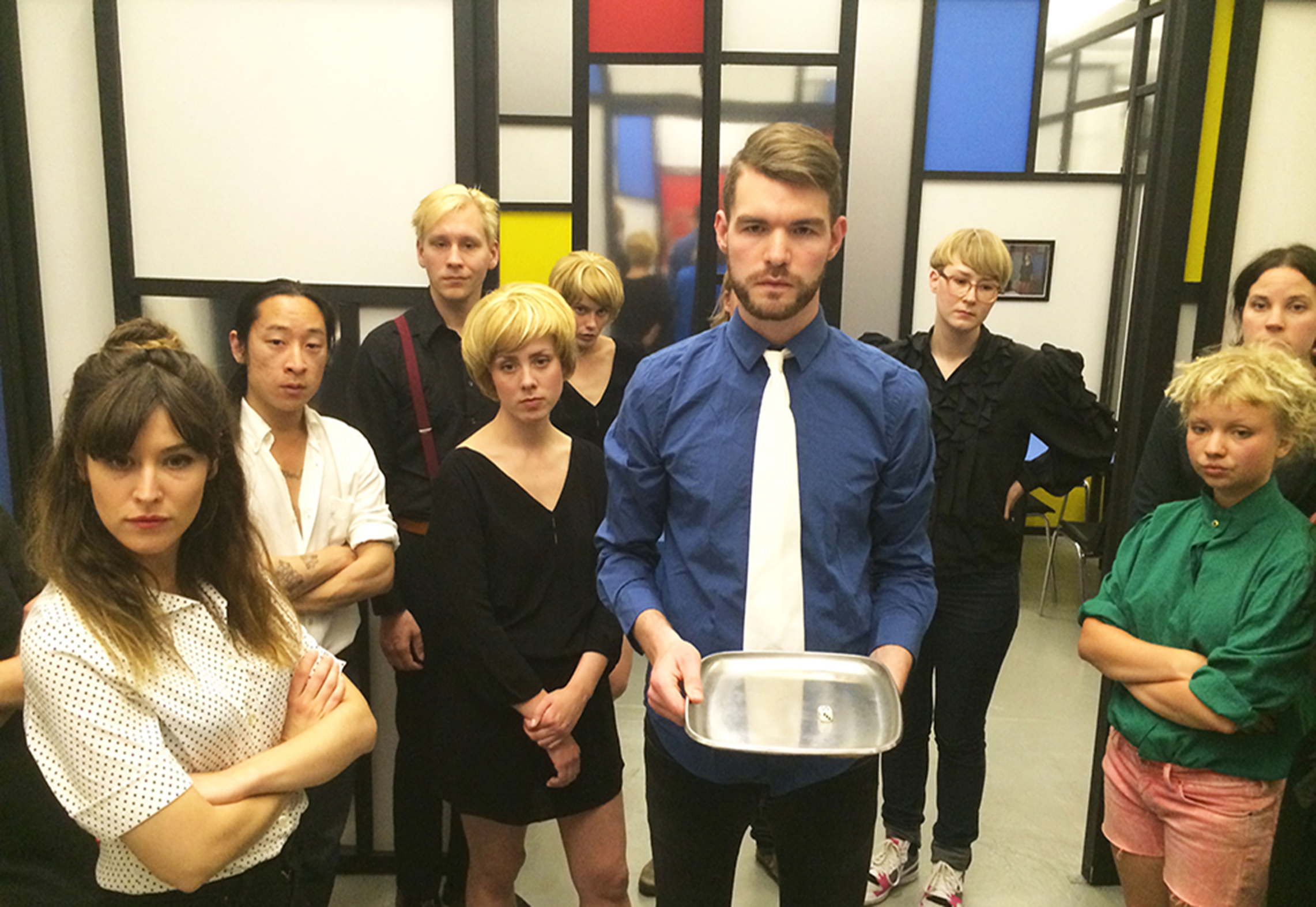 Performance installation  Eden The Pow(d)er of Fear  was presented at Lilith Performance Studios, Malmö, Sweden, 2014. Courtesy the artist