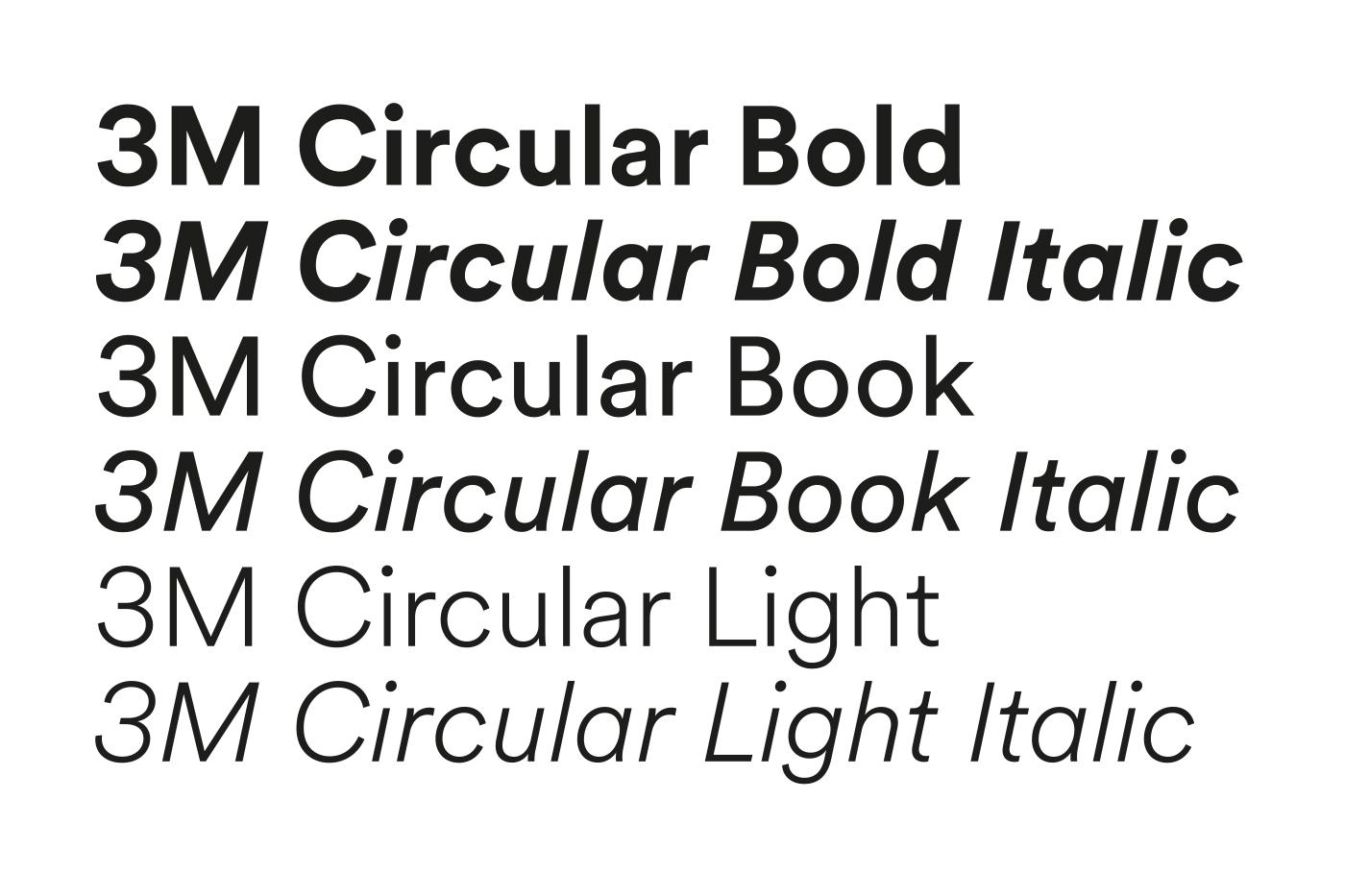 3M visual identity, customized typeface. Courtesy Wolff Olins