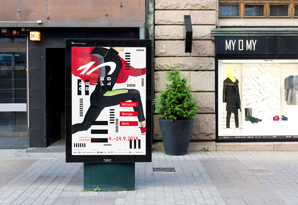 Visual identity for Helsinki Design Week, the largest design festival in the Nordic countries. The multidisciplinary festival is held annually in September. Courtesy Teemu Suviala